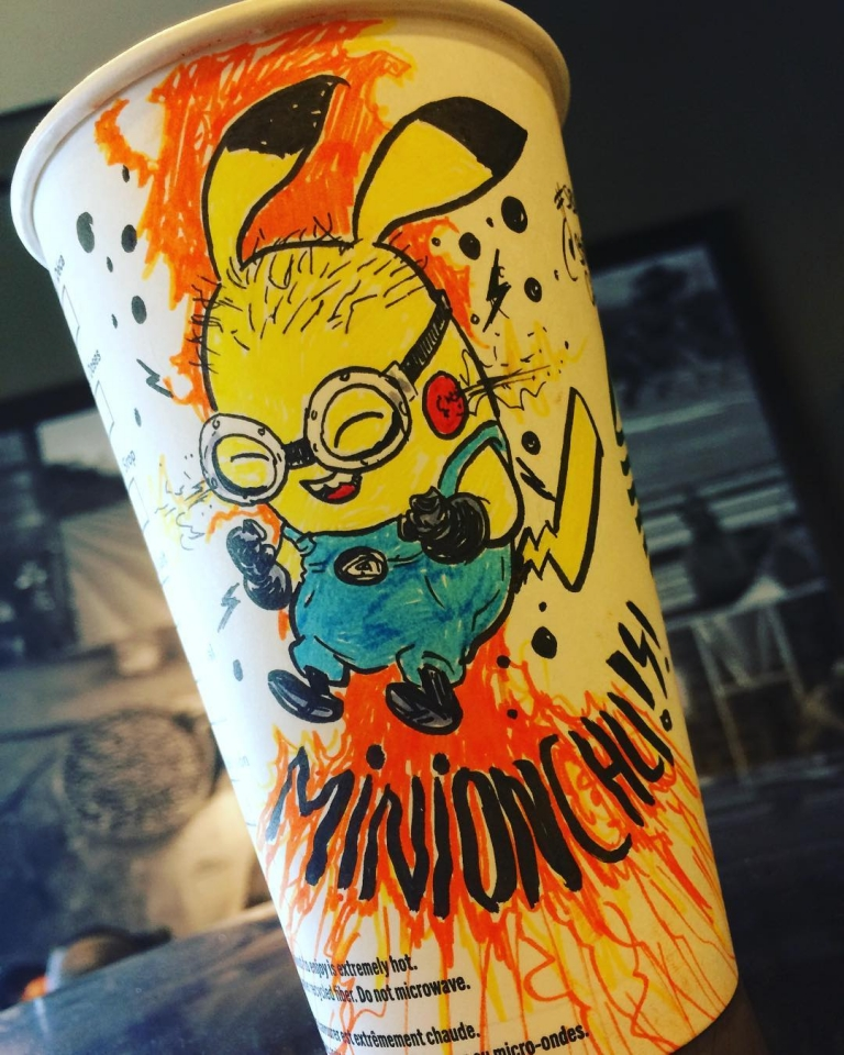 Starbucks barista draws art on customer's cup and they all look awesome... see these cool drawings!