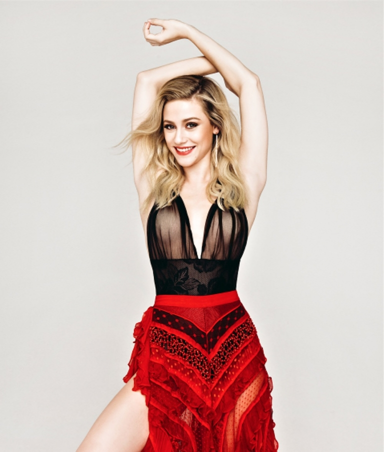 #StyleInspiration: Lili Reinhart in a #Vintage Red Skirt