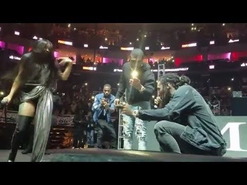 Offset proposes to Cardi B live on stage at a concert