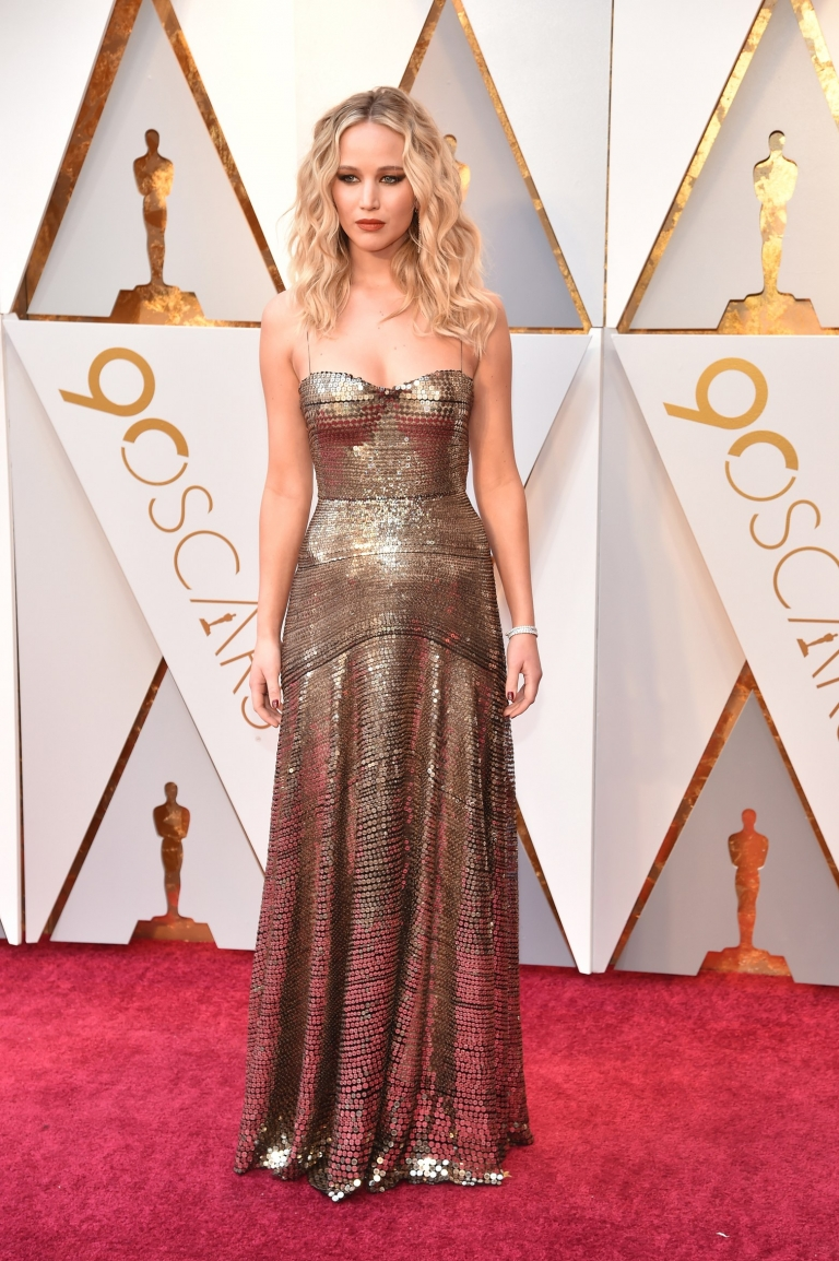 Jennifer Lawrence Feminist Fashion Statement at the #Oscars2018