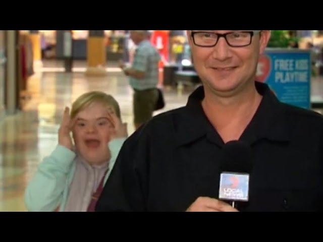 Girl with Down Syndrome Steals Spotlight From Live TV Reporter