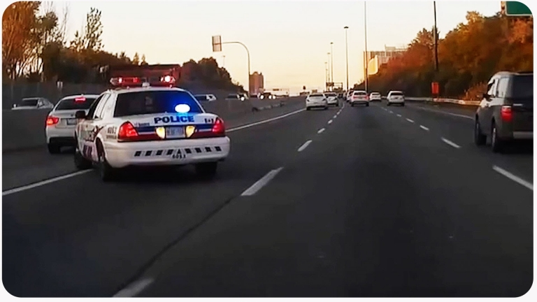 BMW Tried To Pass On The Shoulder, Gets Pulled Over #InstantKarma
