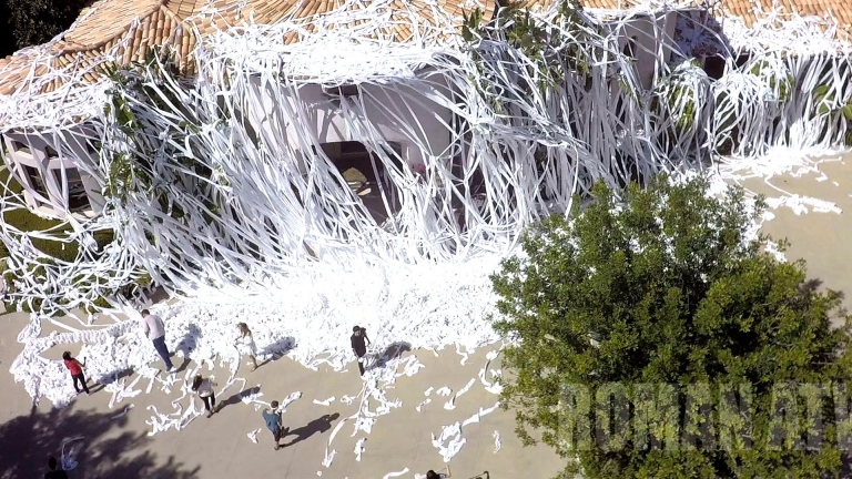 Youtube prankster covered Howie Mandel's house with 4,000 toilet paper