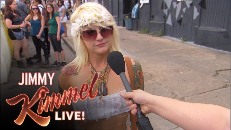 Jimmy Kimmel asks ovbioust questions to stoned people in Austin Texas - #SXSW