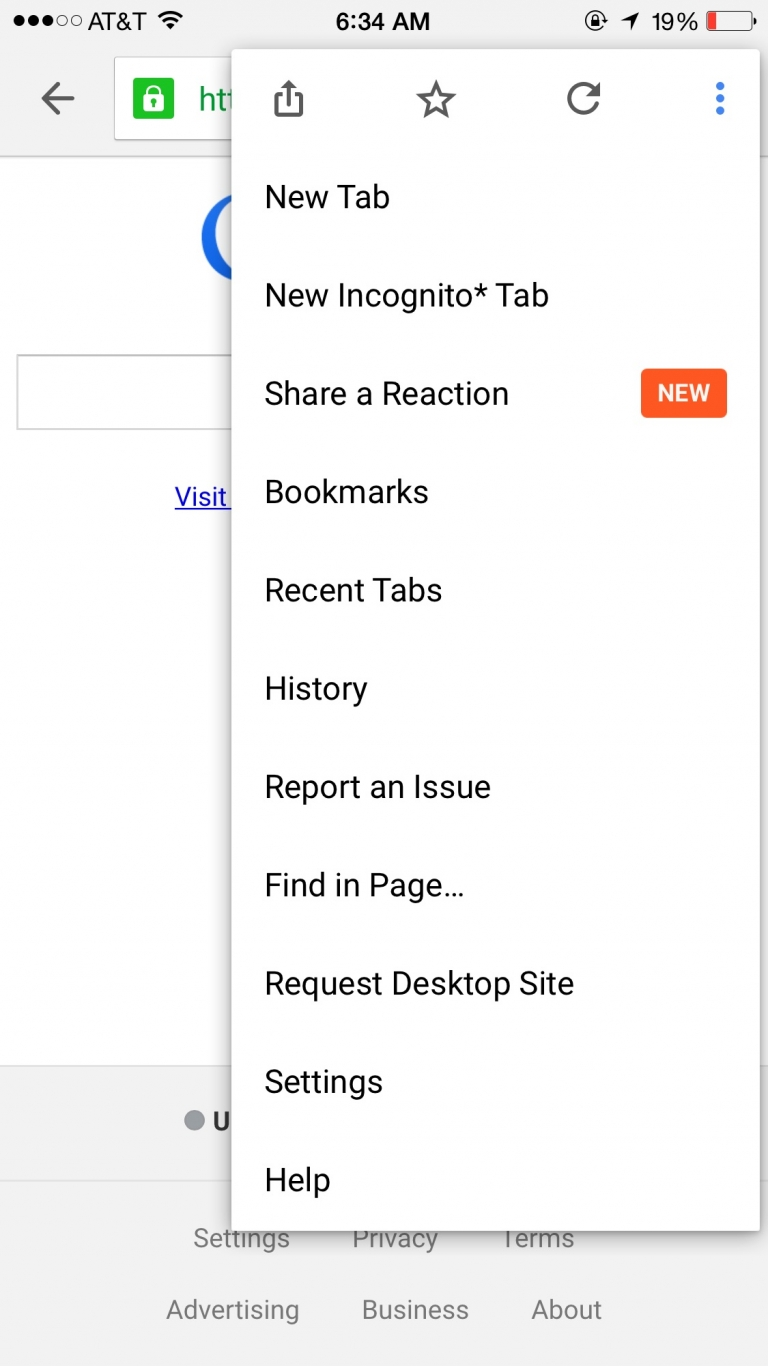 """Google Chrome introduce new feature, """"Share a reaction"""". What's your reaction?"""