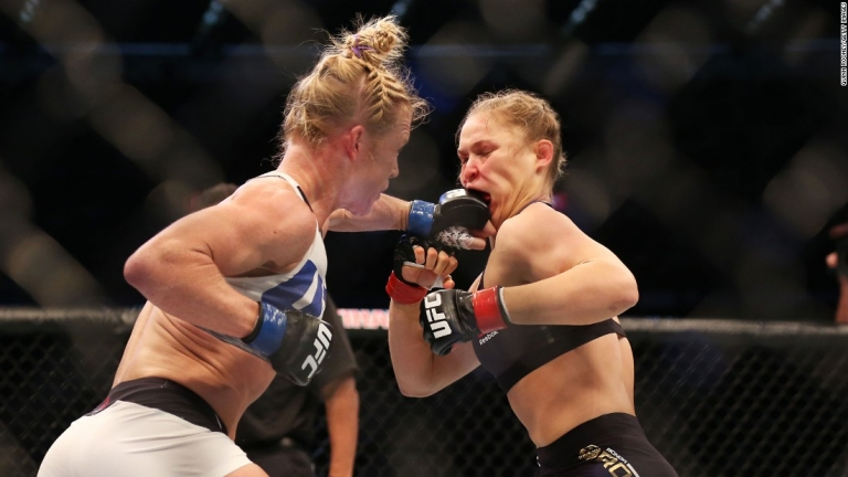 Ronda Rousey Eats Holly Holm's Fist at UFC93