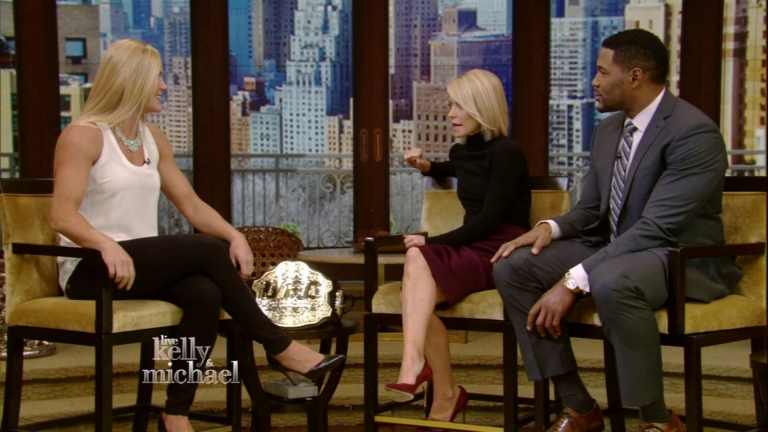 Holly Holm Talks About Her UFC93 Win on LIVE with Kelly and Michael