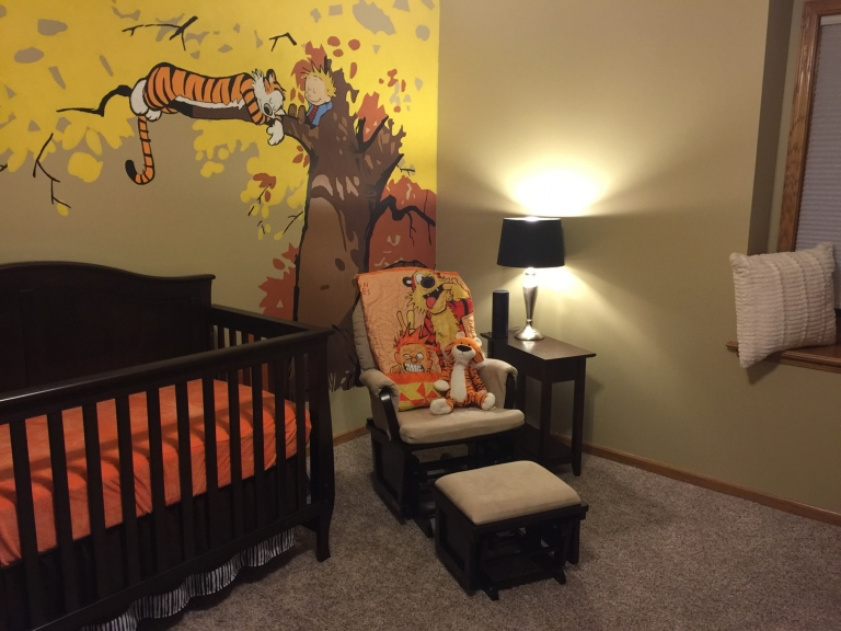 #BabyRoom: Calvin And Hobbes Themed Nursery With A Mural