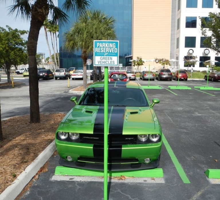 parking reserved for green vehicles funny dizkover. Black Bedroom Furniture Sets. Home Design Ideas