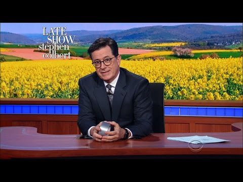 Stephen Colbert Talks About Gwyneth Paltrow's Magic Healing Stickers
