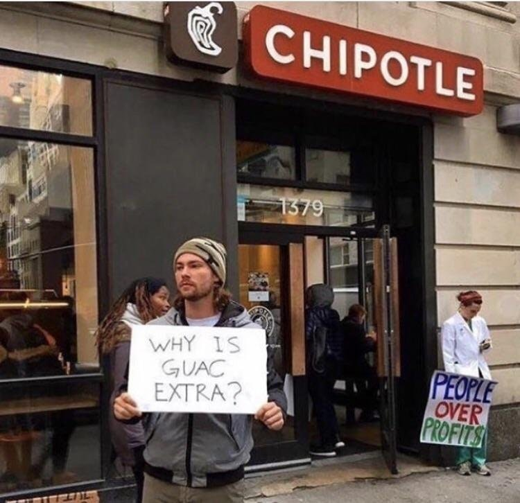 Why is guac extra?