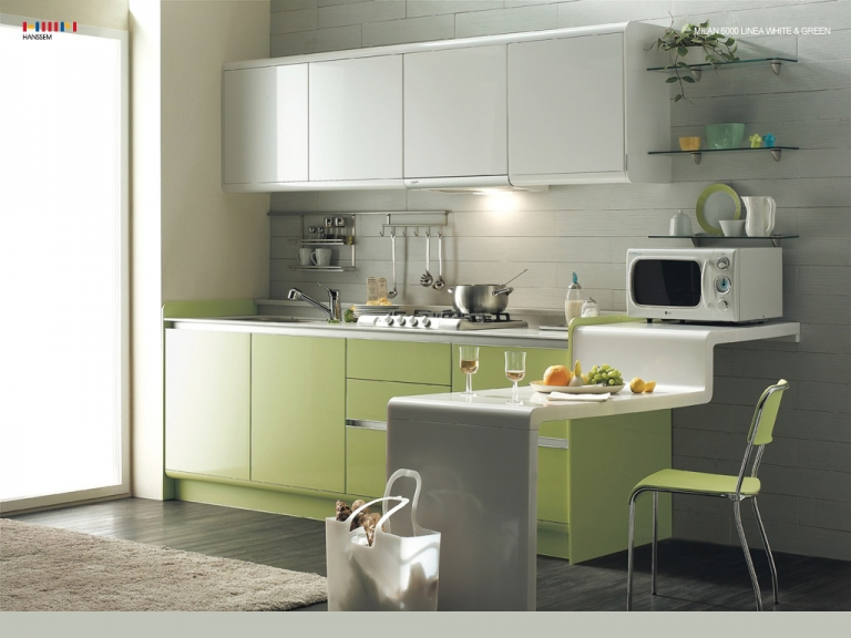 #SmallSpace: I like this #kitchen design idea for a small space