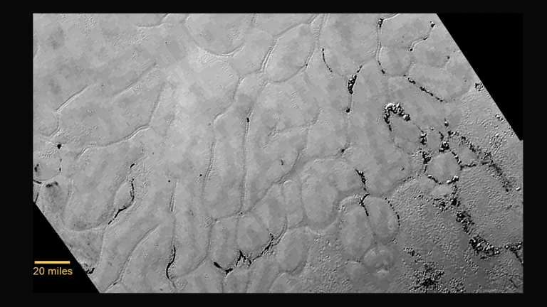 New Horizons Discovers Frozen Plains in the Heart of Pluto's 'Heart'