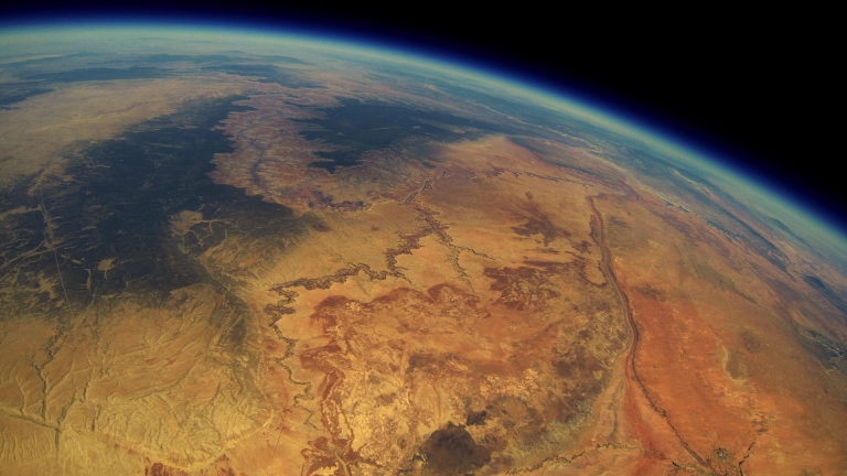 Friends launched a weather balloon with a GoPro and captured shots of Grand Canyon from space!