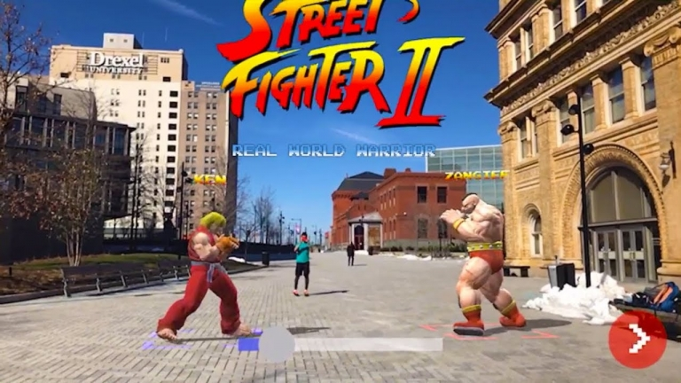 Street Fighter II AR Gameplay!