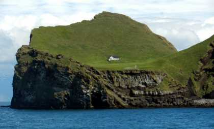 A secluded house in Ellidaey Island in #Iceland
