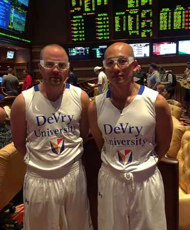 DeVry University basketball team captains #MarchMadness