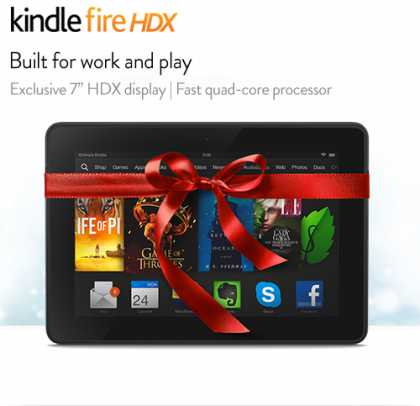 How about the Kindle Fire HDX Tablet?
