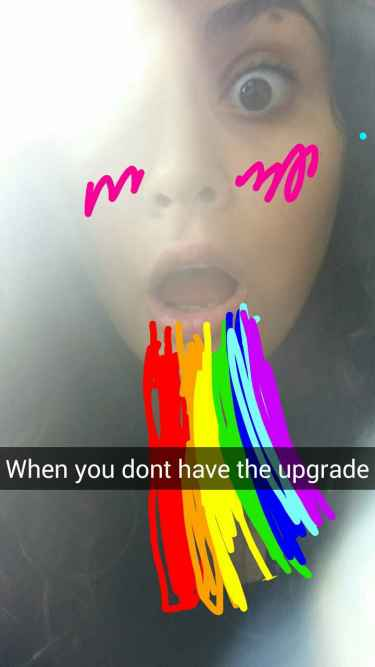 When you don't have the Snapchat upgrade...