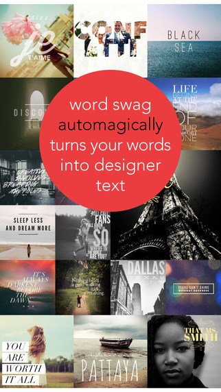 #PhotoAndVideo: Word Swag - Cool fonts, typography generator, creative quotes, and text over pic editor!