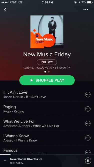 Spotify's 'New Music Friday' #Rickroll