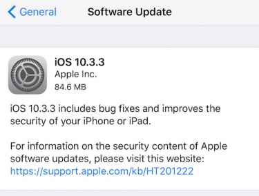 Apple's iOS 10.3.3 Is Ready for Download