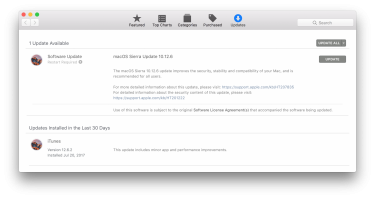 Apple Released macOS Sierra 10.12.6 Update for Download