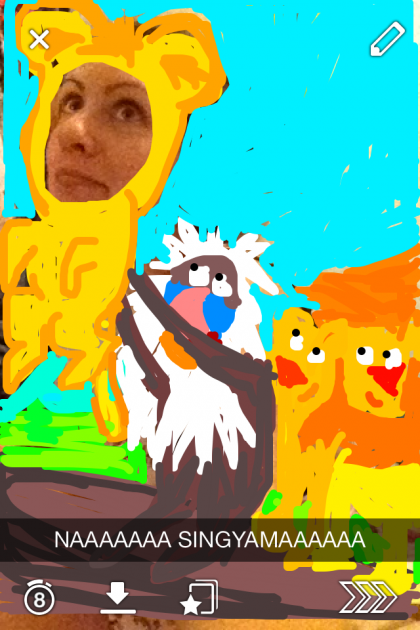 #BestSnaps: Today's best snapchat photo goes to... soon to be Lion King...  Simba!