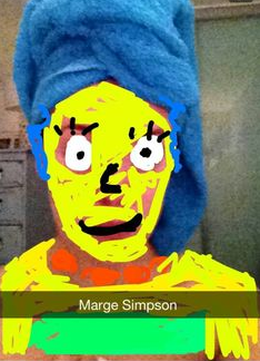 I forgot who sent #margesimpson to me