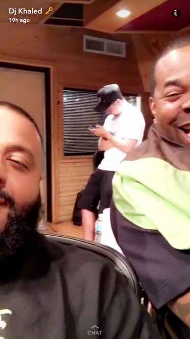 "DJ Khaled with Busta Rhymes talks ""Major Key Alert"" on Snapchat! #DJKhaled305"