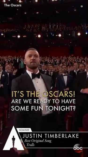 #Oscars2017: Justin Timberlake performs 'Can't Stop The Feeling' at the Oscars...