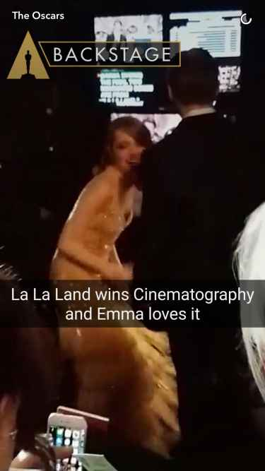 #Oscars2017: Emma Stone ecstatic for La La Land's Best Cinematography win...
