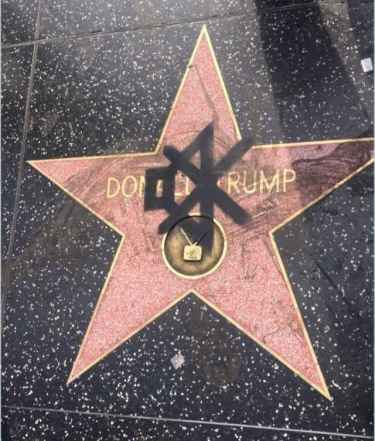Trump Got Muted in Hollywood Blvd