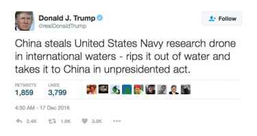 President-elect Donald Trump mocked after sending 'unpresidented' tweet