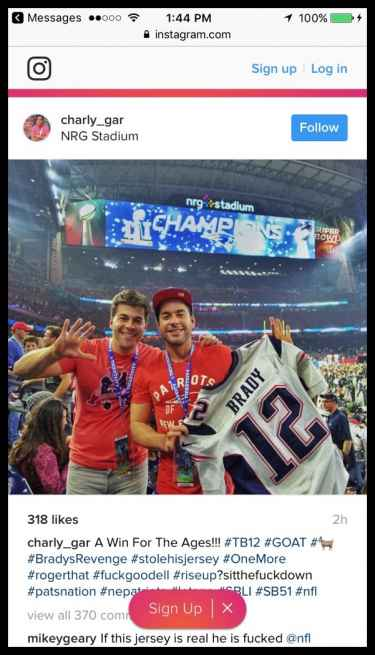 Is this Tom Brady's stolen jersey? #StoleHisJersey