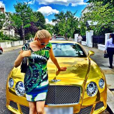 #RichKidsOfInstagram: Galina Genis and a gold Bentley