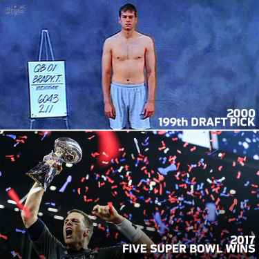 Never let anyone tell you you're not good enough! 🐐 #MondayMotivation #TomBrady #Patriots