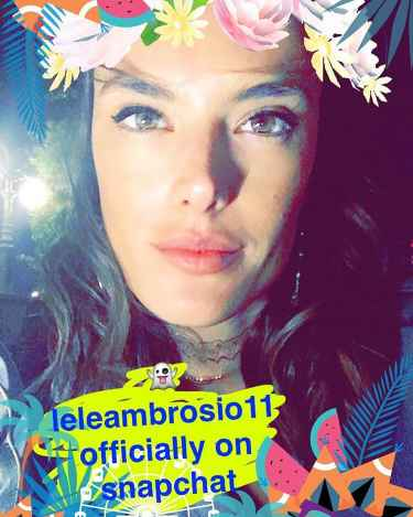 Alessandra Ambrosio Snapchat Username Annouced on Instagram