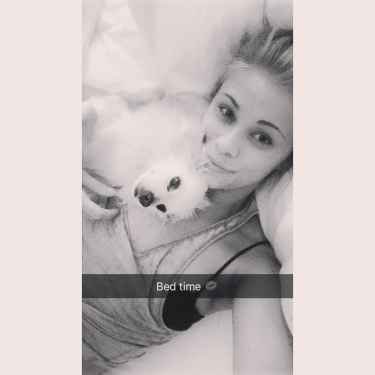 Paige VanZant posted a bestime snapchat story