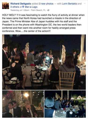 Trump in Mar-a-lago estate talking North Korea national security