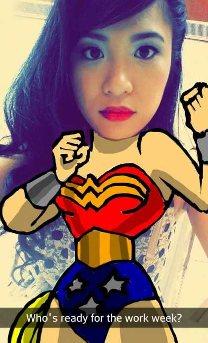 Follow me CyreneQ on Snapchat! #wonderwoman
