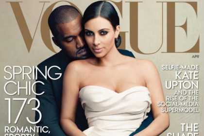 Kanye West and Kim Kardashian On The April #Vogue Cover... Is This April Fools?
