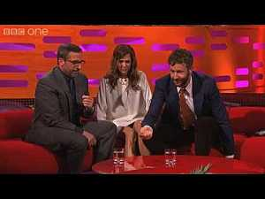 Steve Carell, Kristen Wiig, and Chris O'Dowd who chewed a fly on Graham Norton Show... #funny