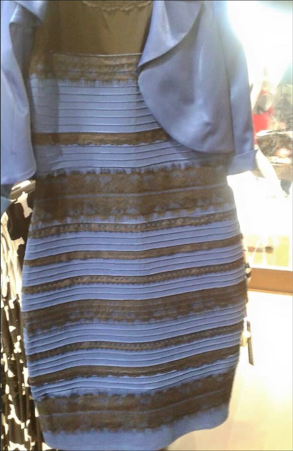 How is this dress blue and black when I see white and gold? #WhiteAndGold