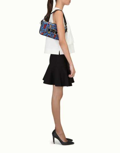 FENDI | 3BAGUETTE shoulder bag in multi-coloured Ayers #MyTrendyFashion