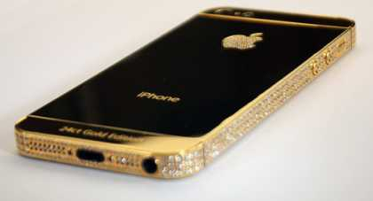 #Diamond encrusted gold iPhone