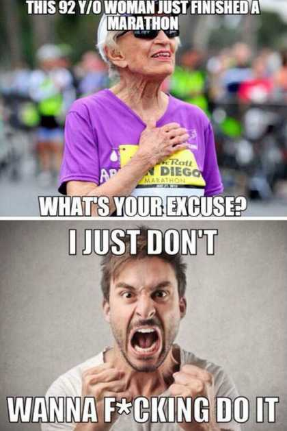 What's your excuse? #lol