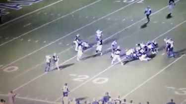 Texas high school football players 'blindsided' game official
