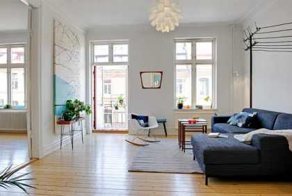 Design idea for a small #apartment #living room... #simple and #homey