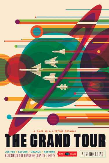 "NASA Space Tourism Poster: ""The Grand Tour"""